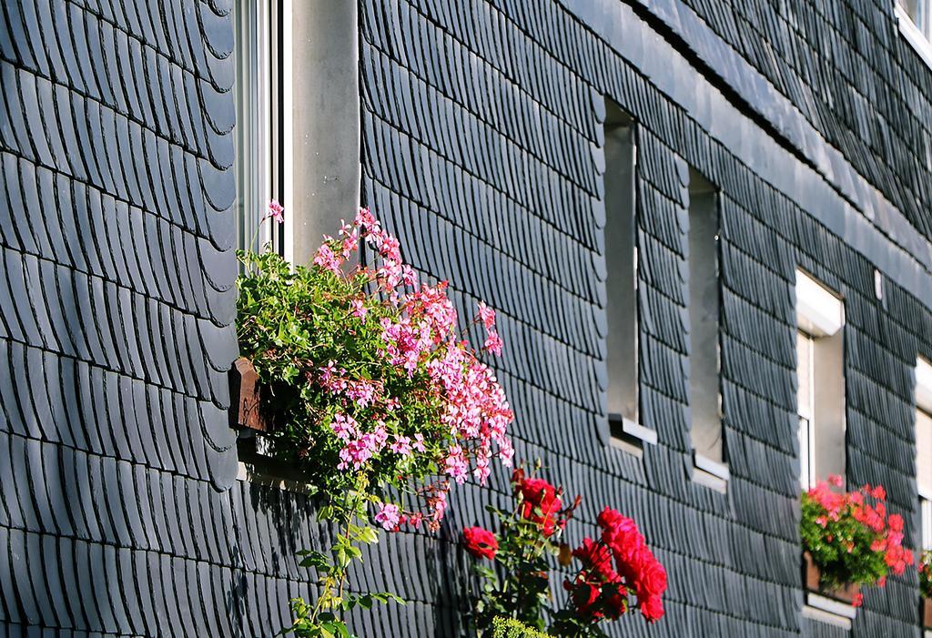 Schieferfassade in Lehesten (Foto: S. Reuter)