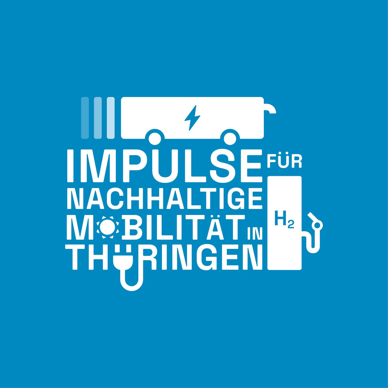 Logo mit der Aufschrift: Impulse für Nachhaltige Mobilität in Thüringen