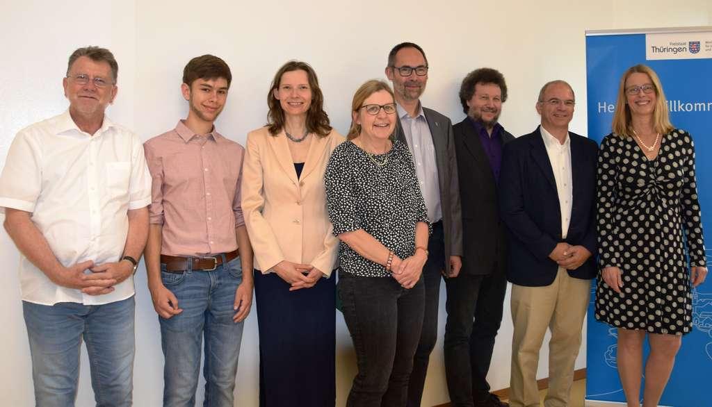 Gruppenbild des Thüringer Klimarats mit Umweltstaatssekretär