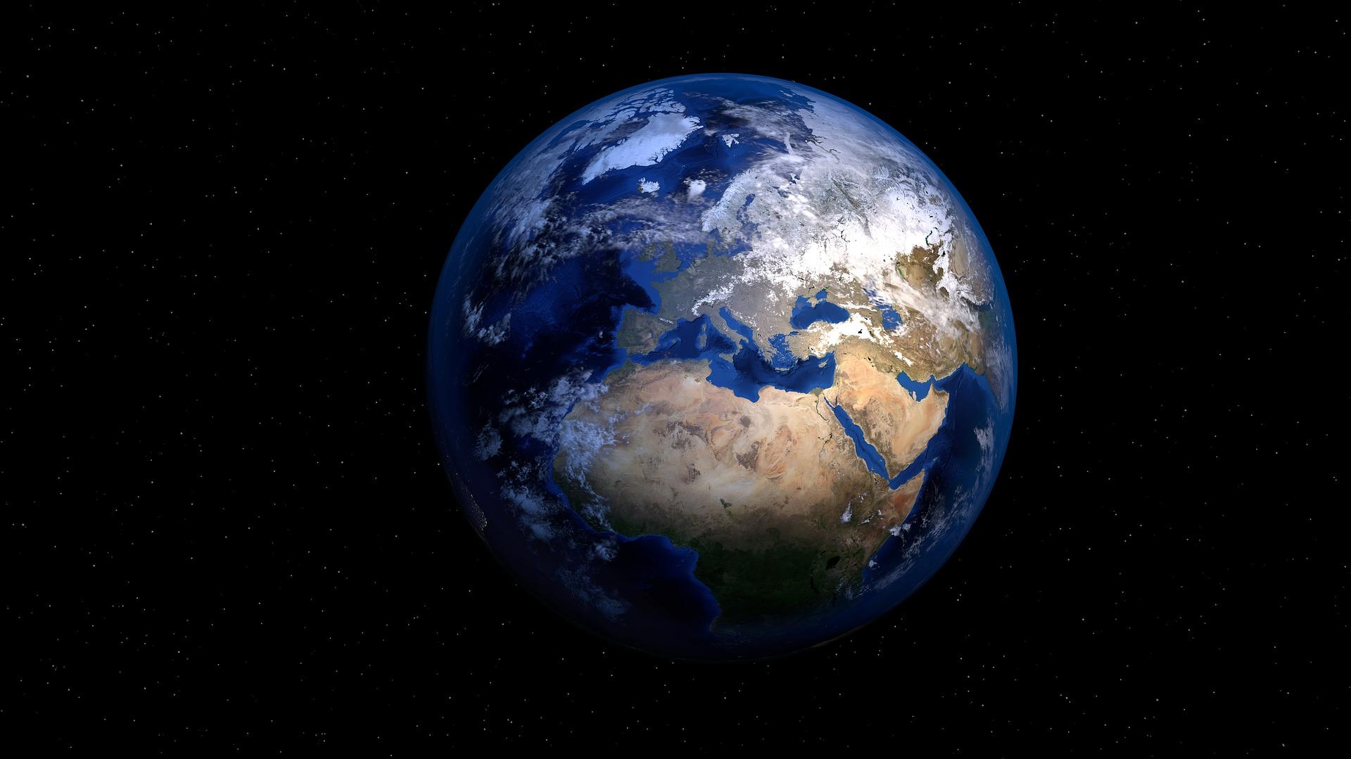 Blick auf die Erde aus dem All